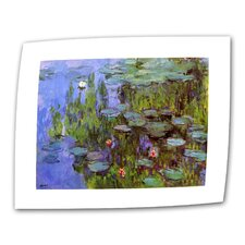 """Sea Roses"" by Claude Monet Painting Print on Canvas"