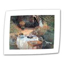 """Garden Picnic"" by Claude Monet Painting Print on Canvas"