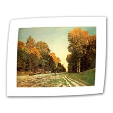 """Lumber Wagon"" by Claude Monet Painting Print on Canvas"
