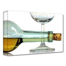'Bottle Plus Glass' by Dan Holm Photographic Print on Canvas
