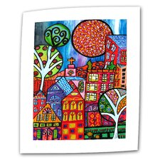 """Downtown"" by Debra Purcell Original Painting on Canvas"