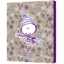 Felittle People ''Snow Much Fun Girl'' Canvas Art