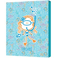 Felittle People ''Dive in Girl'' Canvas Art