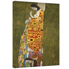 ''Hopeful'' by Gustav Klimt Painting Print on Canvas