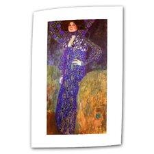 """Emilie Louise Floege"" by Gustav Klimt Painting Print on Canvas"