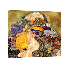 ''Baby Detail'' by Gustav Klimt Painting Print on Canvas