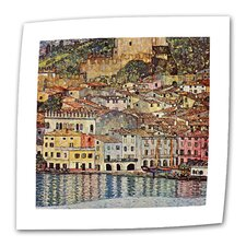 """Malcesina at Gardasee"" by Gustav Klimt Painting Print on Canvas"