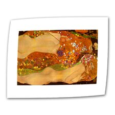 """Water Snakes"" by Gustav Klimt Original Painting on Canvas"