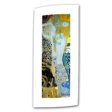 "'Water Serpents Blonde"" by Gustav Klimt Original Painting on Canvas"