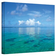 ''Lagoon and Reef'' by George Zucconi Canvas Photographic Print