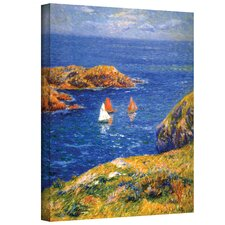 ''Calm Seas'' by Henri Moret Painting Print on Canvas