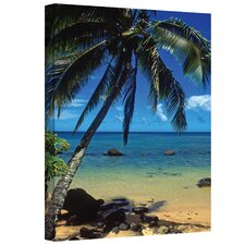 ''Beautiful Animi Beach'' by Kathy Yates Photographic Print on Canvas