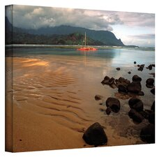 ''Hanalei Bay at Dawn'' by Kathy Yates Photographic Print on Canvas