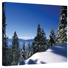 <strong>Art Wall</strong> 'Lake Tahoe in Winter' Gallery-Wrapped Canvas Art by Kathy Yates