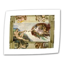"""The Creation of Adam"" by Michelangelo Painting Print on Canvas"
