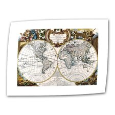 "Antique ""Antique World Map Circa 1499"" Graphic Art on Canvas"