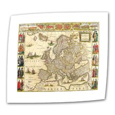 <strong>Art Wall</strong> Antique Maps 'Map of Europe' Unwrapped Canvas Wall Art