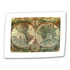 <strong>Art Wall</strong> Antique Maps 'Treasure Map' Unwrapped Canvas Wall Art