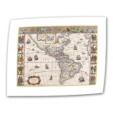 <strong>Art Wall</strong> Antique Maps 'Map of South America' Unwrapped Canvas Wall Art