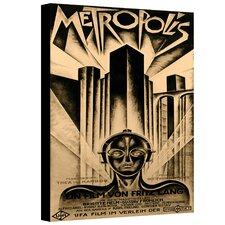 """Metropolis"" by Heinz Schulz-Neudamm Vintage Advertisement Canvas"