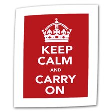 "<strong>Art Wall</strong> Government of the United Kingdom ""Keep Calm and Carry on"" Canvas Wall Art"
