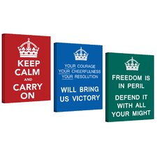 Government of the United Kingdom Canvas Art (Set of 3)