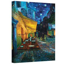 """Cafe Terrace at Night"" by Vincent Van Gogh Painting Print on Canvas"
