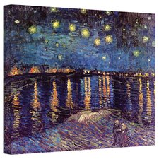 ''Starry Night Over The Rhone'' by Vincent Van Gogh Painting Print on Canvas