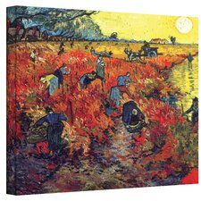 ''Red Vineyard at Arles'' by Vincent Van Gogh Painting Print on Canvas