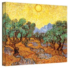 ''Olive Grove with Yellow Sky'' by Vincent Van Gogh Painting Print on Canvas