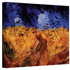 ''Wheatfield with Crows'' by Vincent Van Gogh Painting Print on Canvas