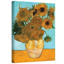 ''Vase with Twelve Sunflowers'' by Vincent Van Gogh Painting Print on Canvas