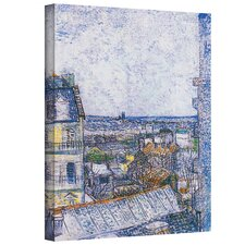 ''Paris from Vincent's Room'' by Vincent Van Gogh Painting Print on Canvas
