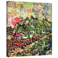Vincent Van Gogh ''Cottages Reminiscent of North'' Canvas Art
