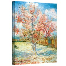 ''Pink Peach Tree'' by Vincent Van Gogh Painting Print on Canvas