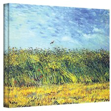 ''Green Wheat Fields'' by Vincent Van Gogh Painting Print on Canvas