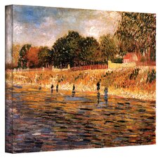 Vincent Van Gogh ''Banks of the Seine'' Canvas Art