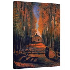 ''Avenue of Poplars'' by Vincent Van Gogh Painting Print on Canvas