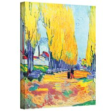 ''Les Alyscamps'' by Vincent Van Gogh Original Painting on Canvas