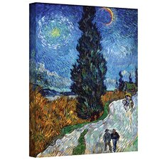 ''Country Road in Provence by Night'' by Vincent Van Gogh Painting Print on Canvas