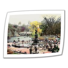 'Bethesda Fountain' by Linda Parker Photographic Print on Canvas