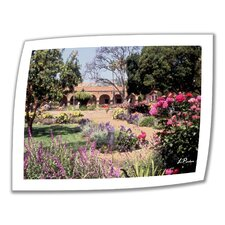 'Gardens of Mission San Juan Capistrano II' by Linda Parker Photographic Print on Canvas