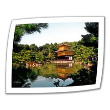 Linda Parker 'Kinkakuji' Unwrapped Canvas Wall Art