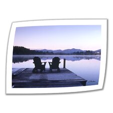 <strong>Art Wall</strong> Linda Parker 'Mirror Lake, Lake Placid' Unwrapped Canvas Wall Art
