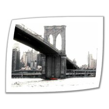 Linda Parker 'NYC Brooklyn Bridge' Unwrapped Canvas Wall Art
