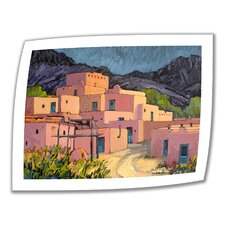 'Taos Pueblo' by Rick Kersten Painting Print on Canvas