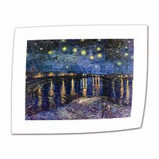 "<strong>Art Wall</strong> Vincent van Gogh ""Starry Night over the Rhone"" Canvas Wall Art"