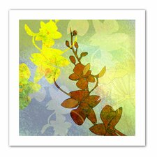 Jan Weiss 'Orchid Shadow' Unwrapped Canvas Wall Art