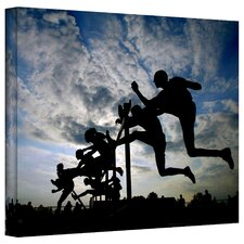 'Hurdler Silhouette' by David Liam Kyle Photographic Print on Canvas