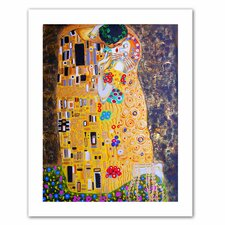 'My Klimt Kiss' by Susi Franco Painting Print on Canvas